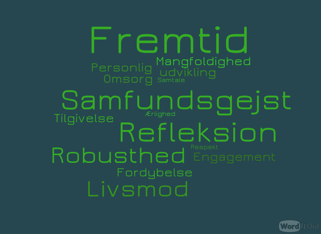fremtid wordcloud